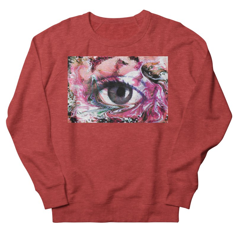 Eye Fancy Pink: Part of the Eye Series Men's Sweatshirt by InspiredPsychedelics's Artist Shop