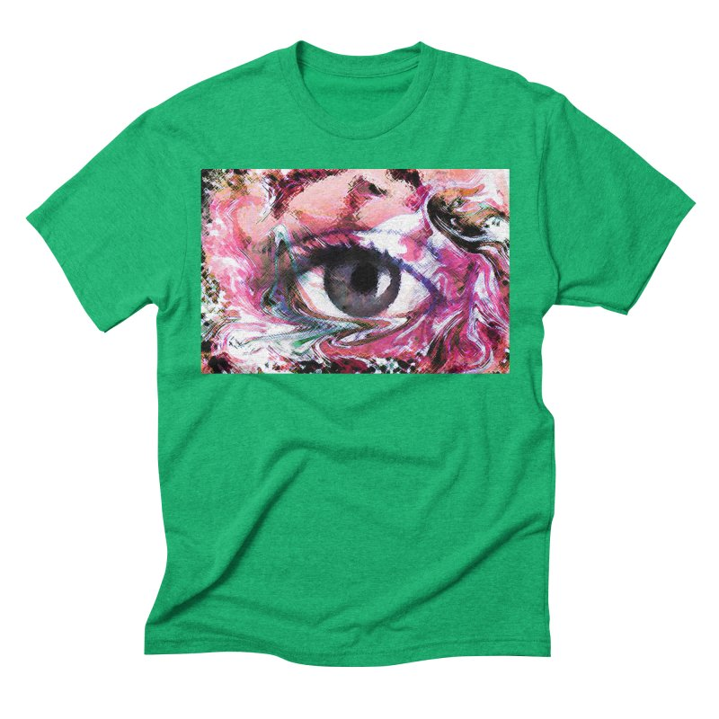 Eye Fancy Pink: Part of the Eye Series Men's Triblend T-Shirt by InspiredPsychedelics's Artist Shop