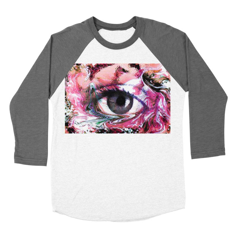 Eye Fancy Pink: Part of the Eye Series Women's Baseball Triblend T-Shirt by InspiredPsychedelics's Artist Shop