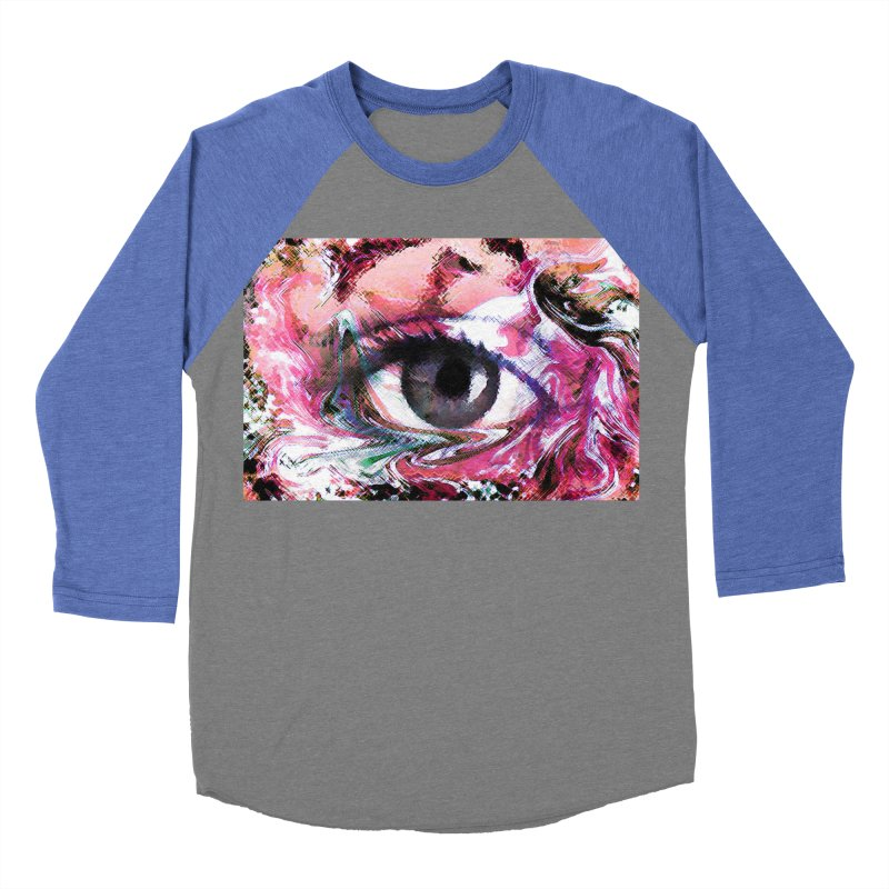 Eye Fancy Pink: Part of the Eye Series Men's Baseball Triblend Longsleeve T-Shirt by InspiredPsychedelics's Artist Shop