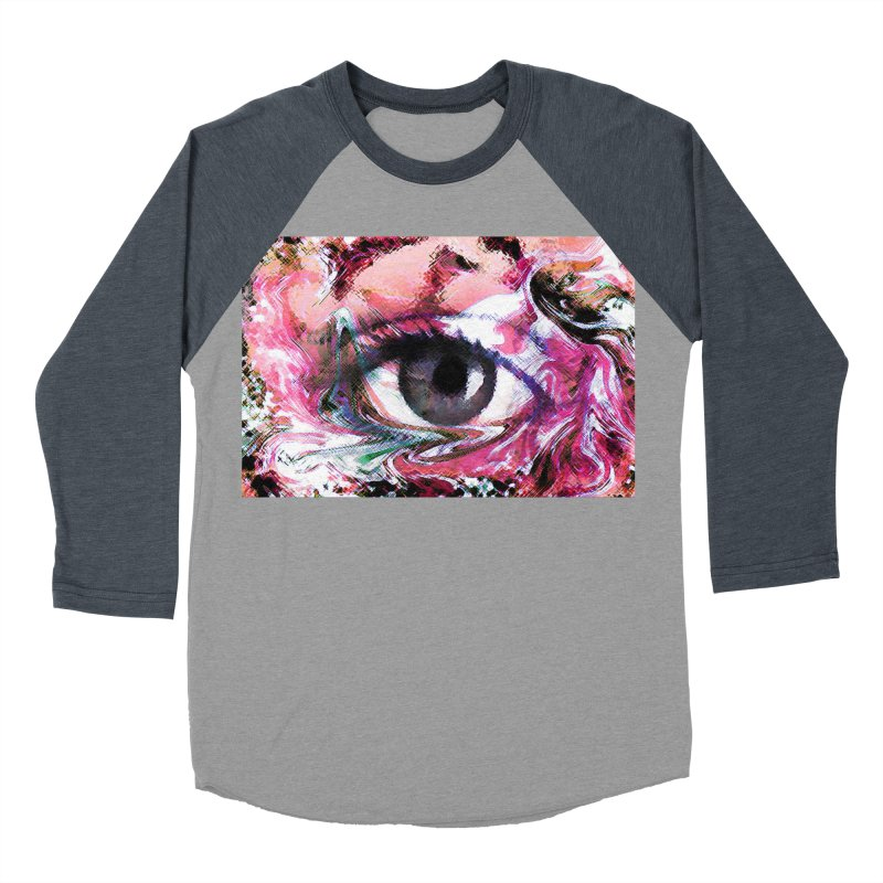 Eye Fancy Pink: Part of the Eye Series Men's Baseball Triblend T-Shirt by InspiredPsychedelics's Artist Shop