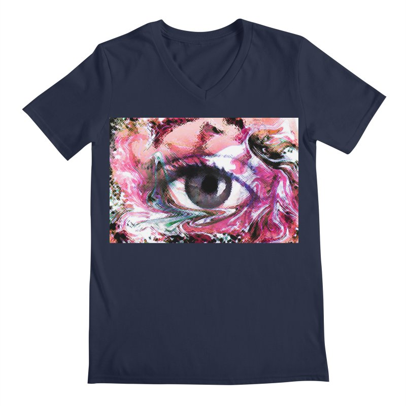 Eye Fancy Pink: Part of the Eye Series Men's V-Neck by InspiredPsychedelics's Artist Shop