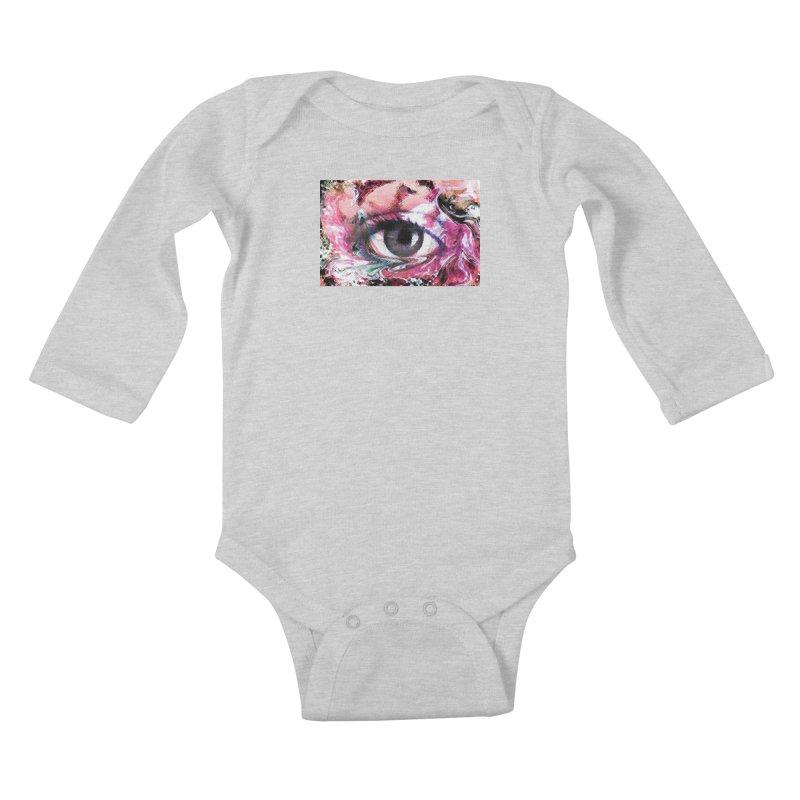 Eye Fancy Pink: Part of the Eye Series Kids Baby Longsleeve Bodysuit by InspiredPsychedelics's Artist Shop