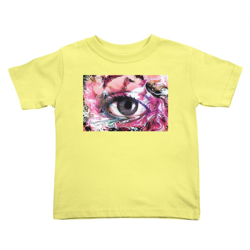 Eye Fancy Pink: Part of the Eye Series Kids Toddler T-Shirt by InspiredPsychedelics's Artist Shop