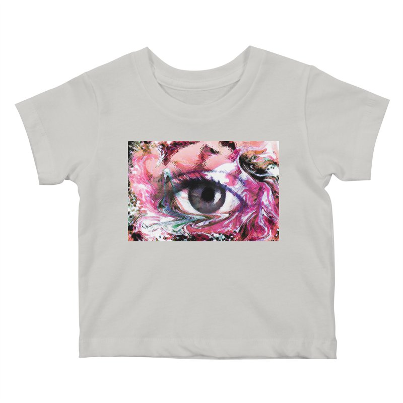 Eye Fancy Pink: Part of the Eye Series Kids Baby T-Shirt by InspiredPsychedelics's Artist Shop
