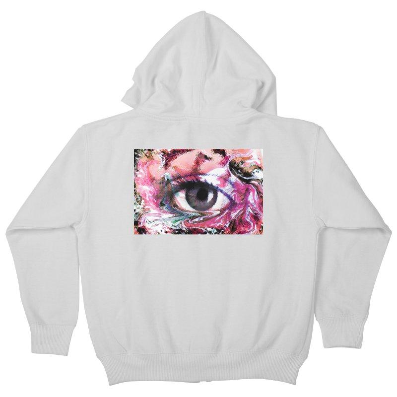 Eye Fancy Pink: Part of the Eye Series Kids Zip-Up Hoody by InspiredPsychedelics's Artist Shop