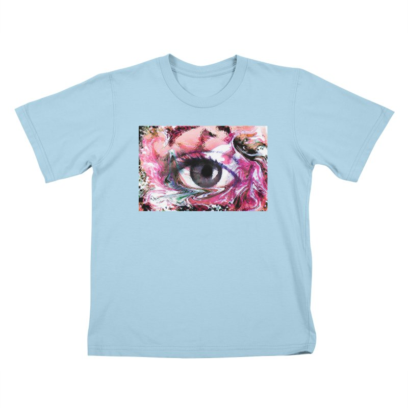 Eye Fancy Pink: Part of the Eye Series Kids T-Shirt by InspiredPsychedelics's Artist Shop