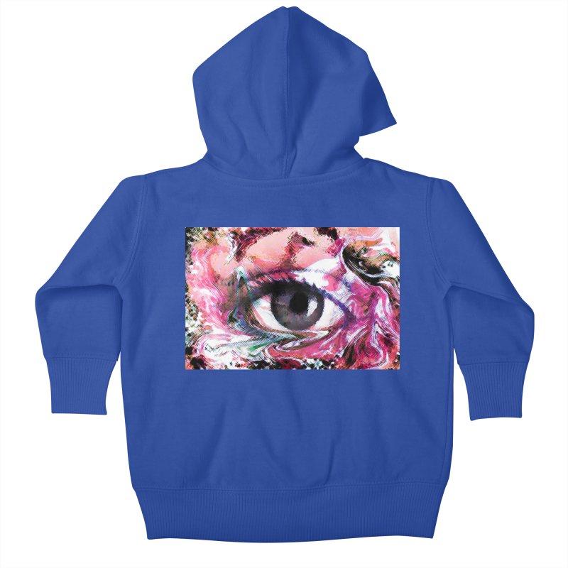 Eye Fancy Pink: Part of the Eye Series Kids Baby Zip-Up Hoody by InspiredPsychedelics's Artist Shop