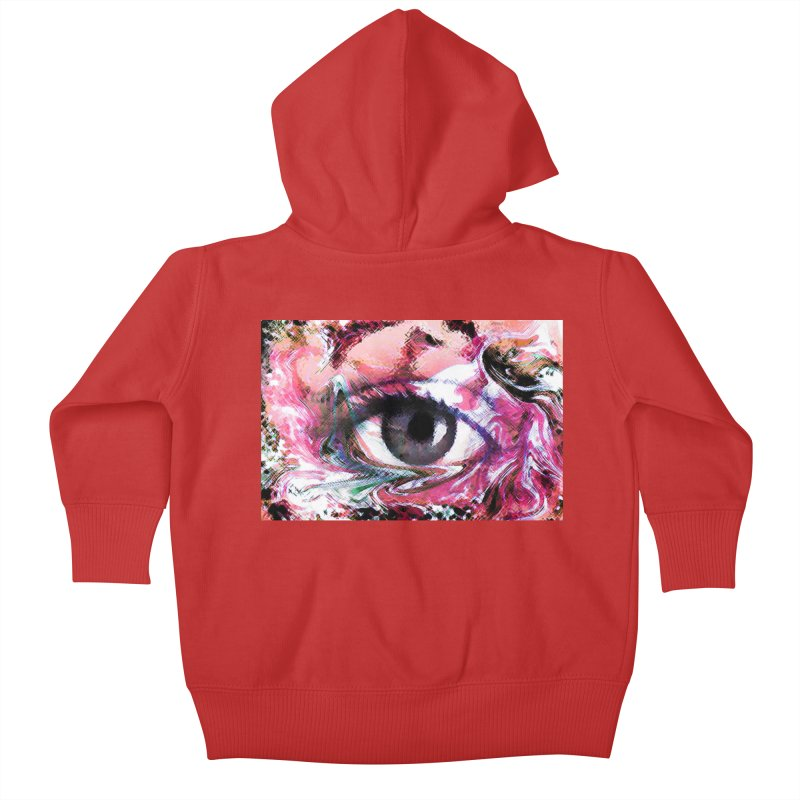 Eye Fancy Pink: Part of the Eye Series Kids Baby Zip-Up Hoody by InspiredPsychedelics's Artist Shop