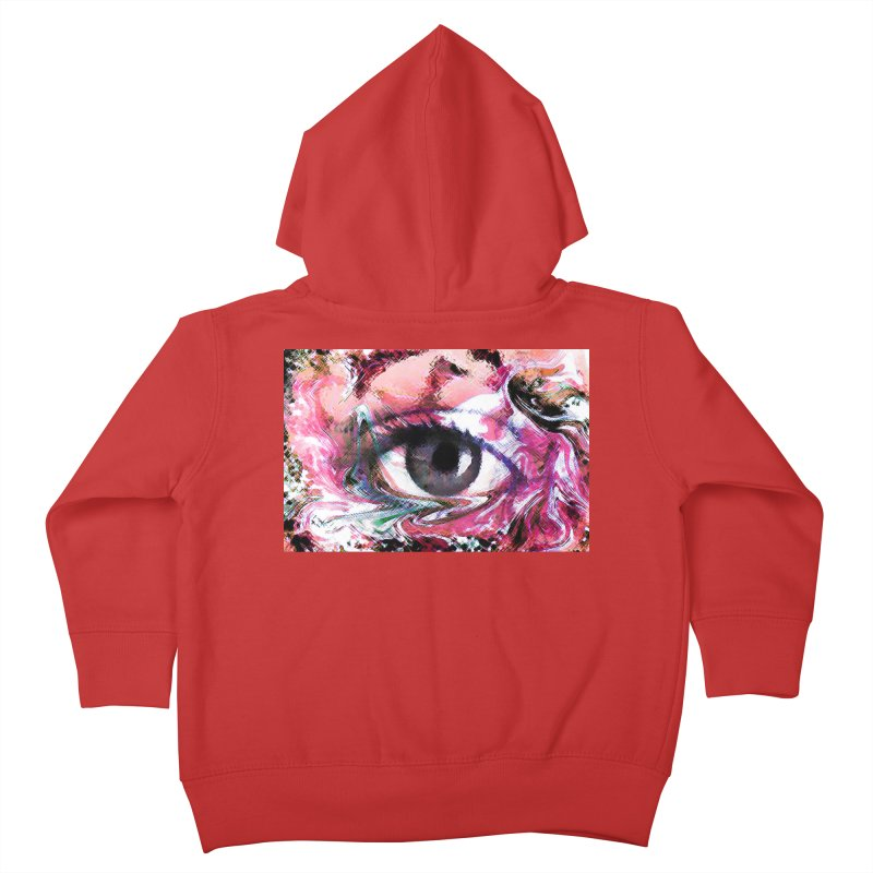Eye Fancy Pink: Part of the Eye Series Kids Toddler Zip-Up Hoody by InspiredPsychedelics's Artist Shop