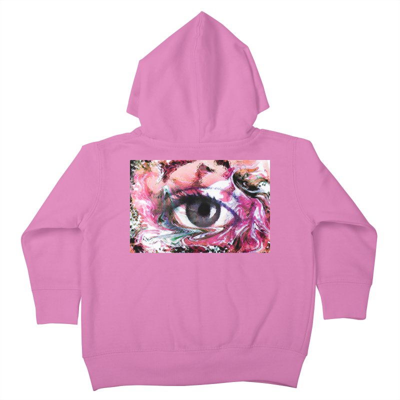Eye Fancy Pink: Part of the Eye Series Kids Toddler Zip-Up Hoody by InspiredPsychedelics's Artist Shop