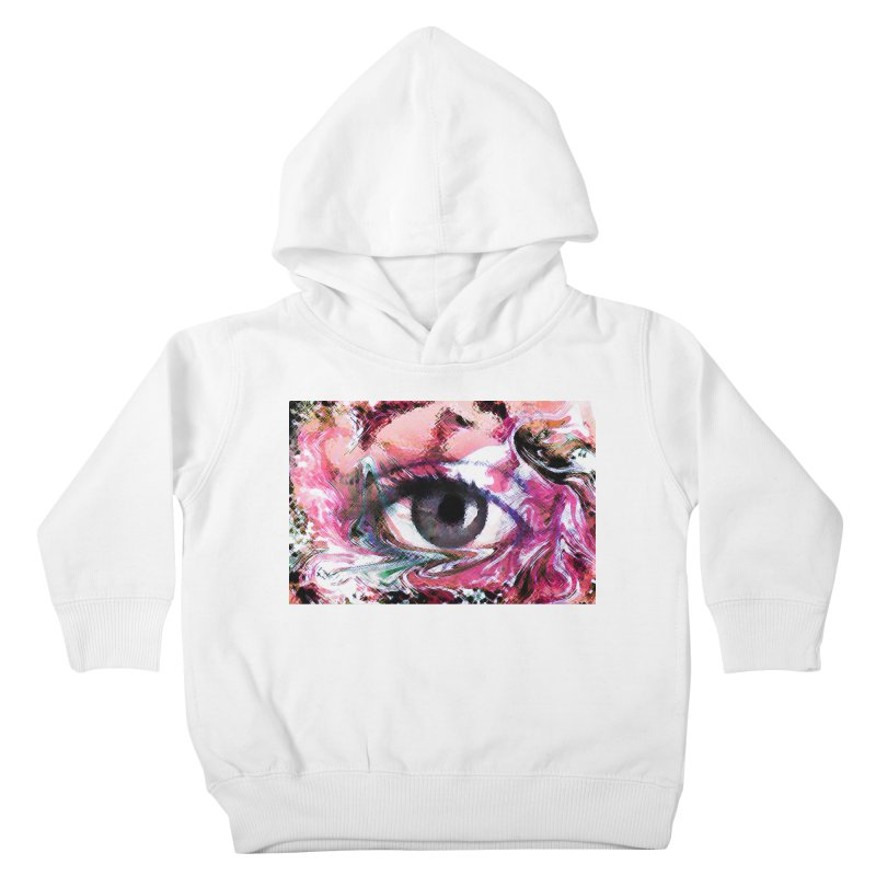 Eye Fancy Pink: Part of the Eye Series Kids Toddler Pullover Hoody by InspiredPsychedelics's Artist Shop