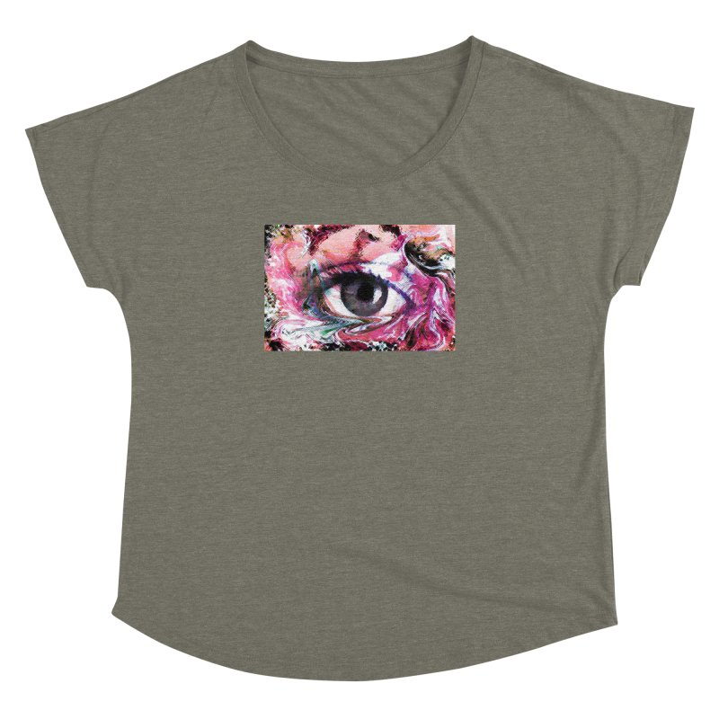 Eye Fancy Pink: Part of the Eye Series Women's Dolman Scoop Neck by InspiredPsychedelics's Artist Shop