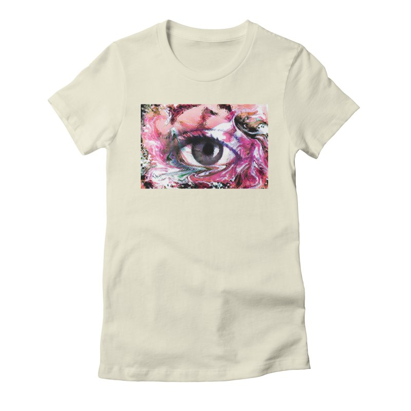 Eye Fancy Pink: Part of the Eye Series Women's Fitted T-Shirt by InspiredPsychedelics's Artist Shop