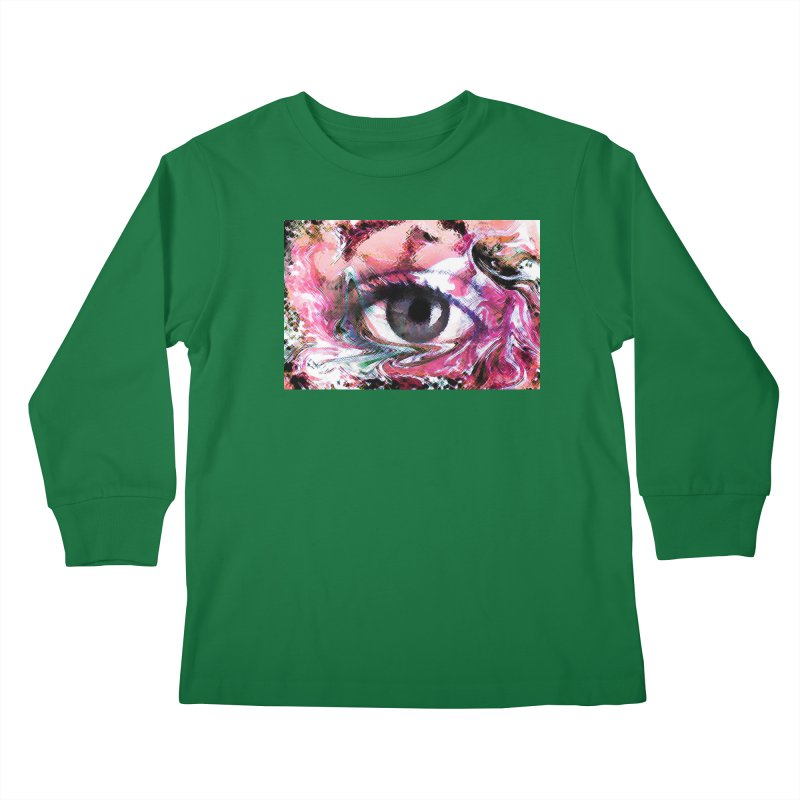 Eye Fancy Pink: Part of the Eye Series Kids Longsleeve T-Shirt by InspiredPsychedelics's Artist Shop