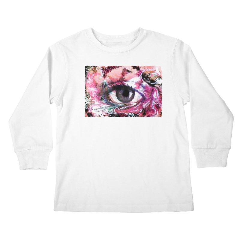 Eye Fancy Pink: Part of the Eye Series Kids Longsleeve T-Shirt by InspiredPsychedelics's Artist Shop