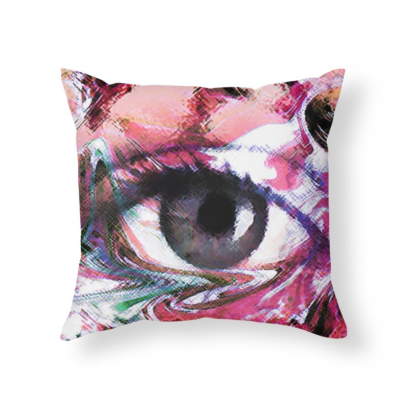 Eye Fancy Pink: Part of the Eye Series Home Throw Pillow by InspiredPsychedelics's Artist Shop
