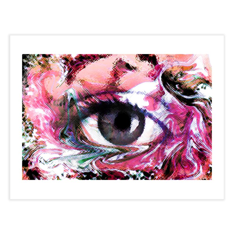 Eye Fancy Pink: Part of the Eye Series Home Fine Art Print by InspiredPsychedelics's Artist Shop