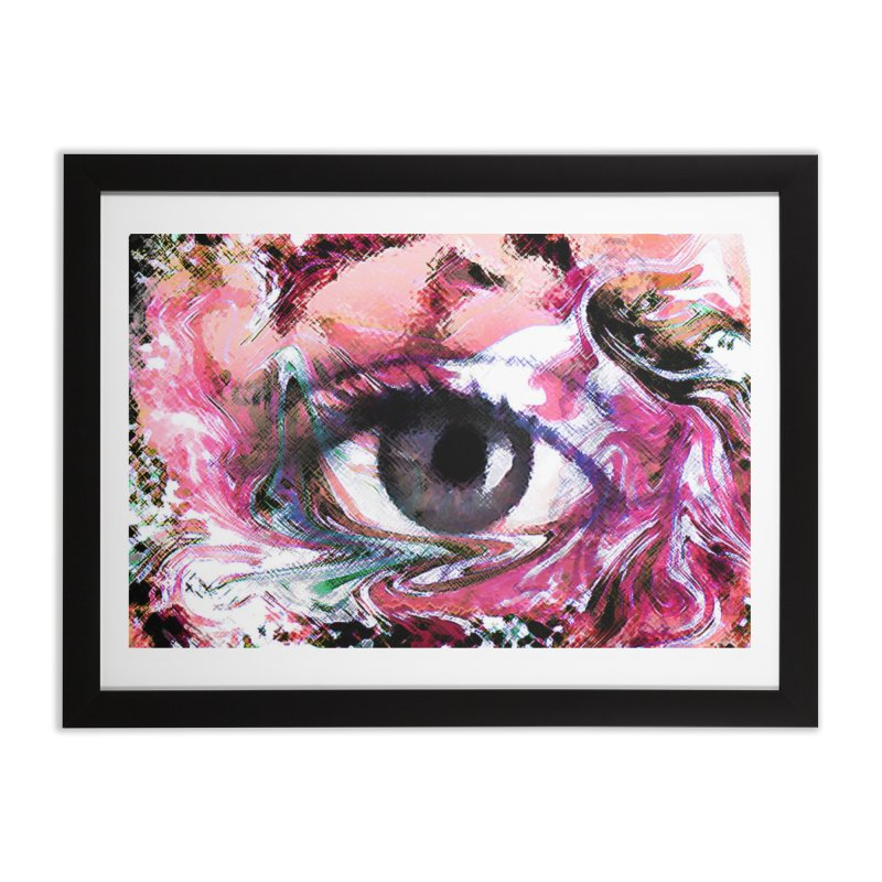 Eye Fancy Pink: Part of the Eye Series Home Framed Fine Art Print by InspiredPsychedelics's Artist Shop