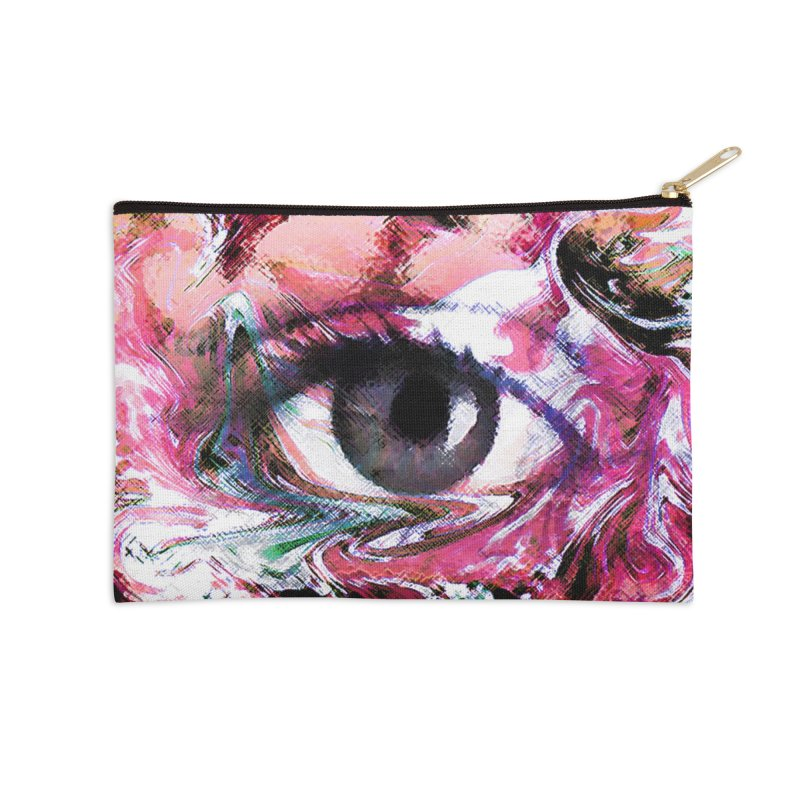 Eye Fancy Pink: Part of the Eye Series Accessories Zip Pouch by InspiredPsychedelics's Artist Shop