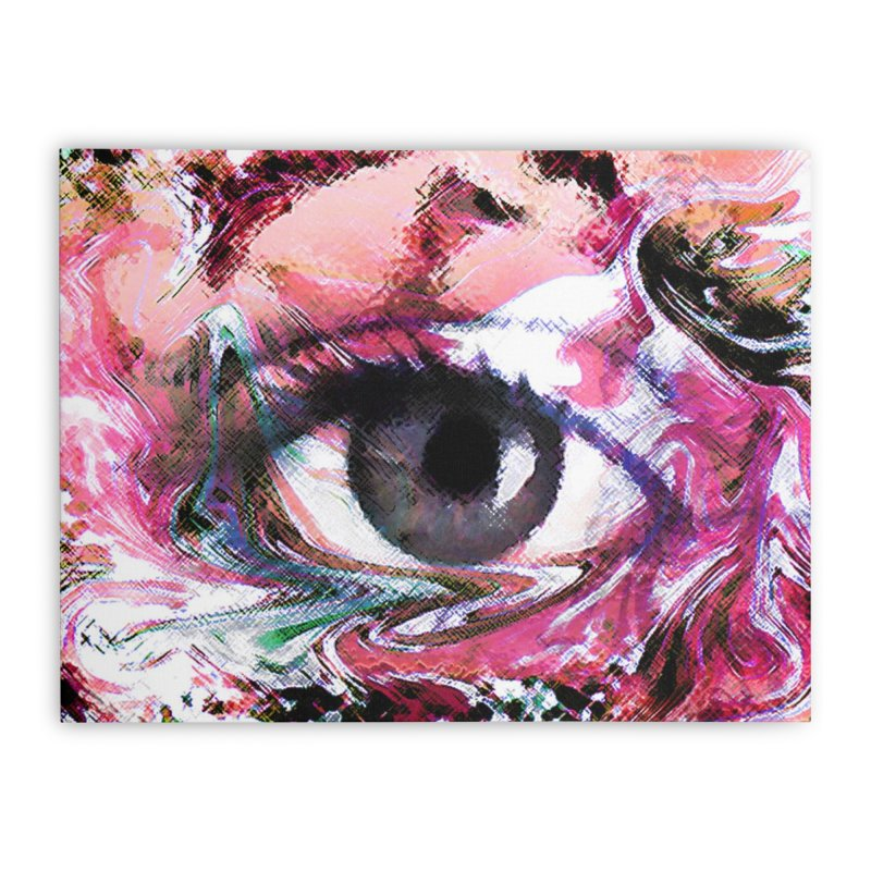 Eye Fancy Pink: Part of the Eye Series Home Stretched Canvas by InspiredPsychedelics's Artist Shop