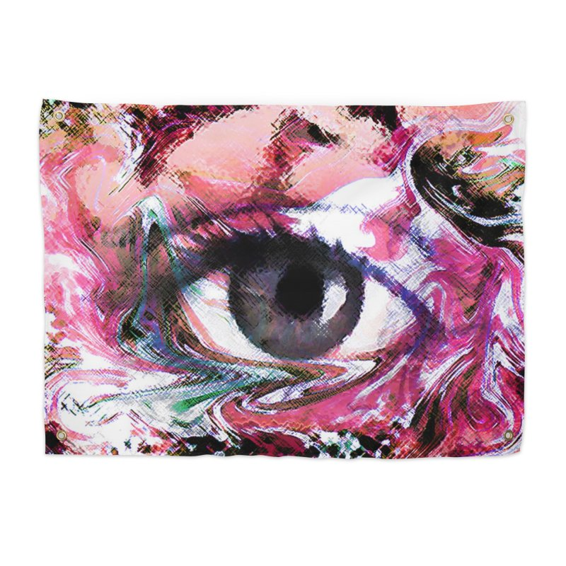 Eye Fancy Pink: Part of the Eye Series Home Tapestry by InspiredPsychedelics's Artist Shop