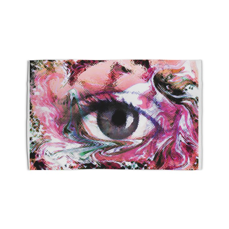 Eye Fancy Pink: Part of the Eye Series Home Rug by InspiredPsychedelics's Artist Shop