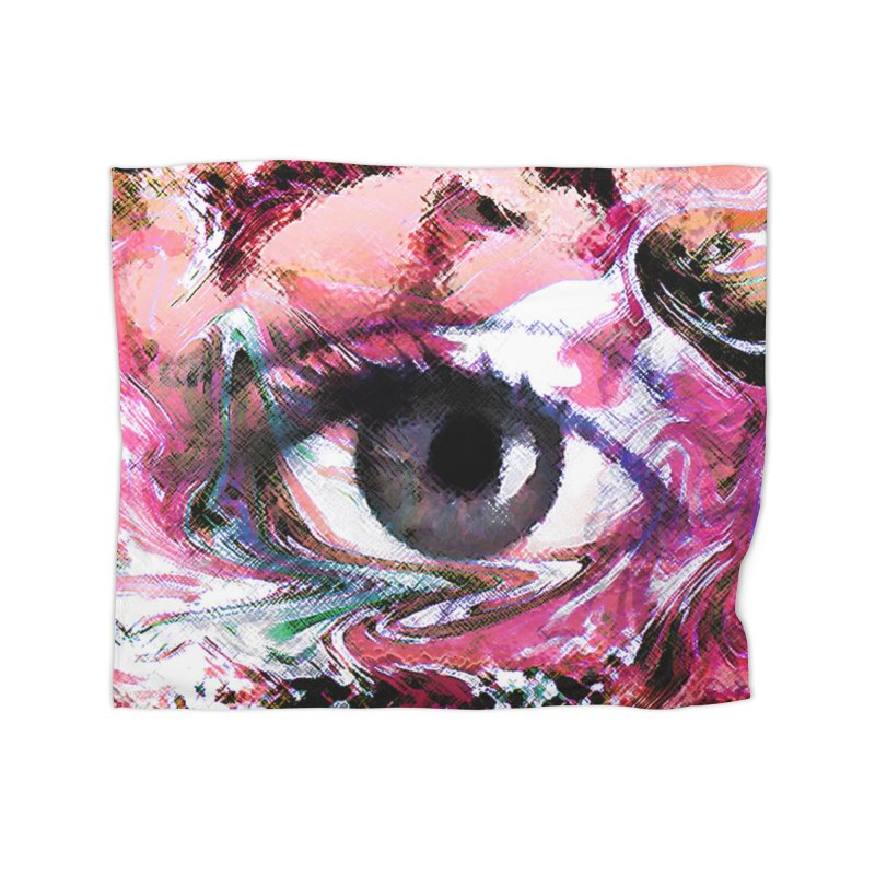 Eye Fancy Pink: Part of the Eye Series Home Blanket by InspiredPsychedelics's Artist Shop