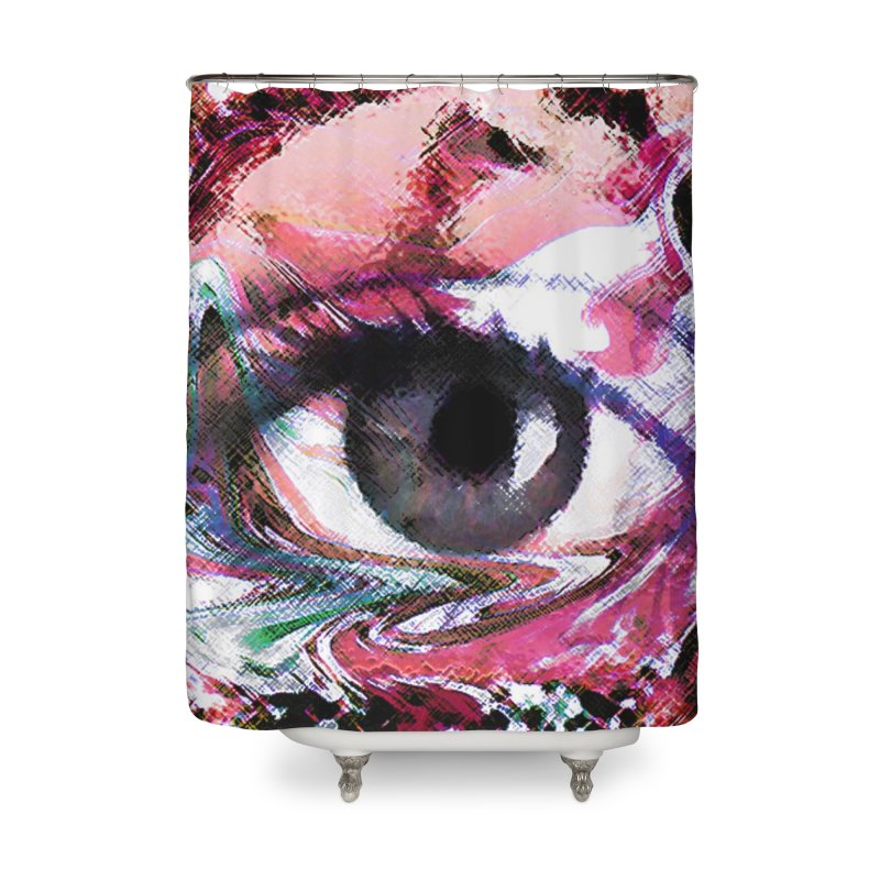 Eye Fancy Pink: Part of the Eye Series Home Shower Curtain by InspiredPsychedelics's Artist Shop