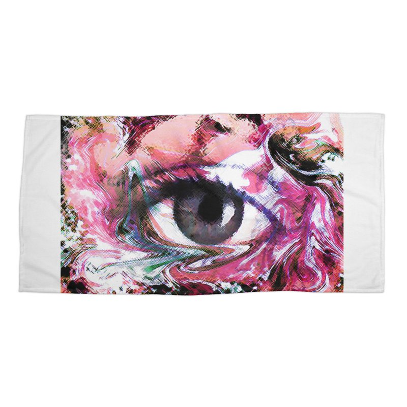 Eye Fancy Pink: Part of the Eye Series Accessories Beach Towel by InspiredPsychedelics's Artist Shop