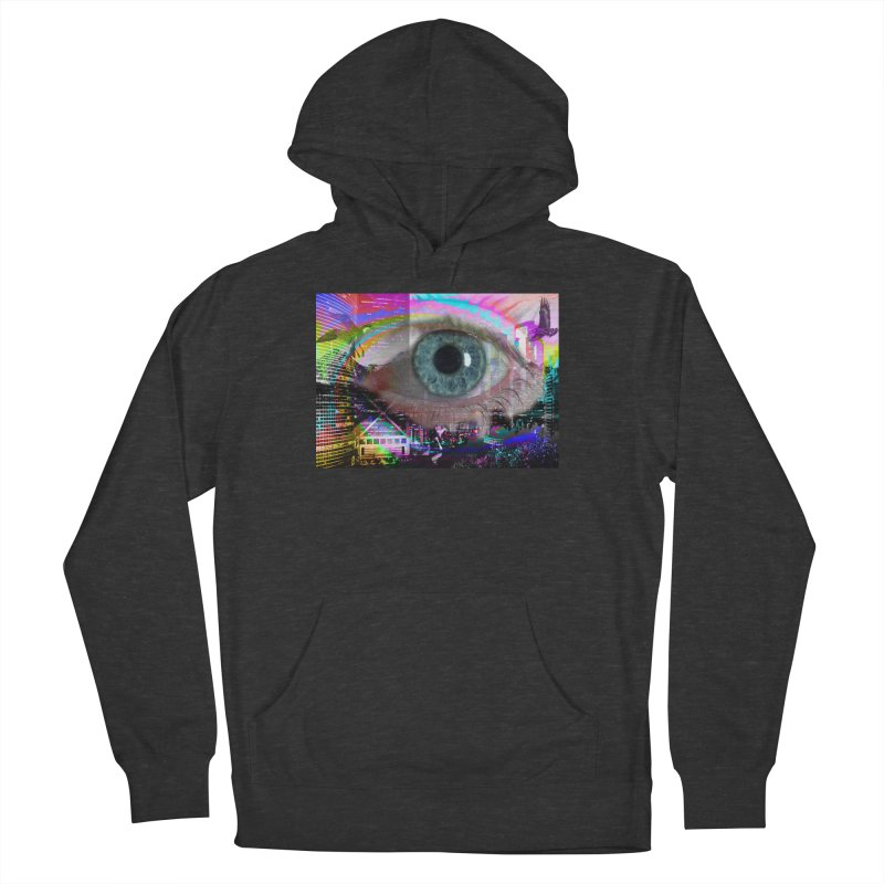 Eye on the City: Part of the Eye Series Men's French Terry Pullover Hoody by InspiredPsychedelics's Artist Shop