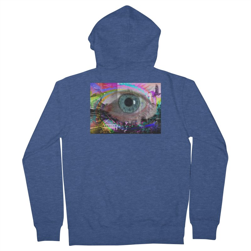 Eye on the City: Part of the Eye Series Women's French Terry Zip-Up Hoody by InspiredPsychedelics's Artist Shop