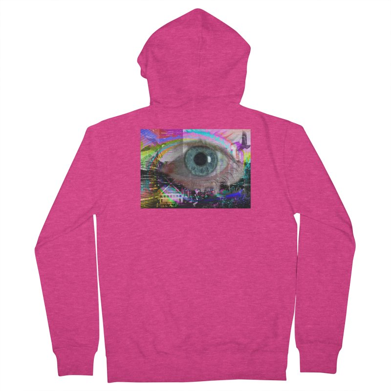 Eye on the City: Part of the Eye Series Women's Zip-Up Hoody by InspiredPsychedelics's Artist Shop