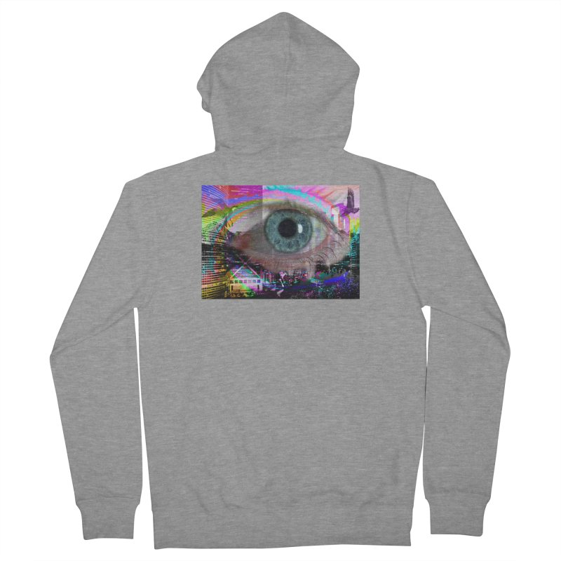 Eye on the City: Part of the Eye Series Men's French Terry Zip-Up Hoody by InspiredPsychedelics's Artist Shop