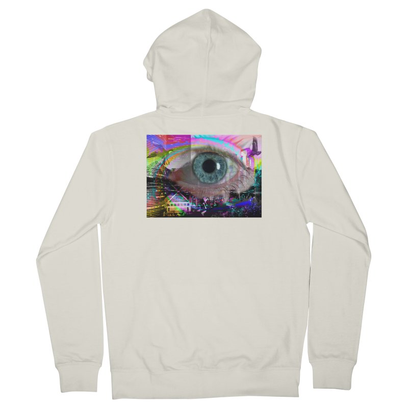 Eye on the City: Part of the Eye Series Men's Zip-Up Hoody by InspiredPsychedelics's Artist Shop