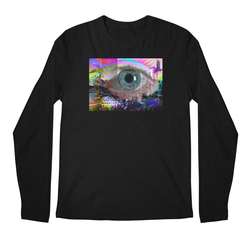Eye on the City: Part of the Eye Series Men's Regular Longsleeve T-Shirt by InspiredPsychedelics's Artist Shop
