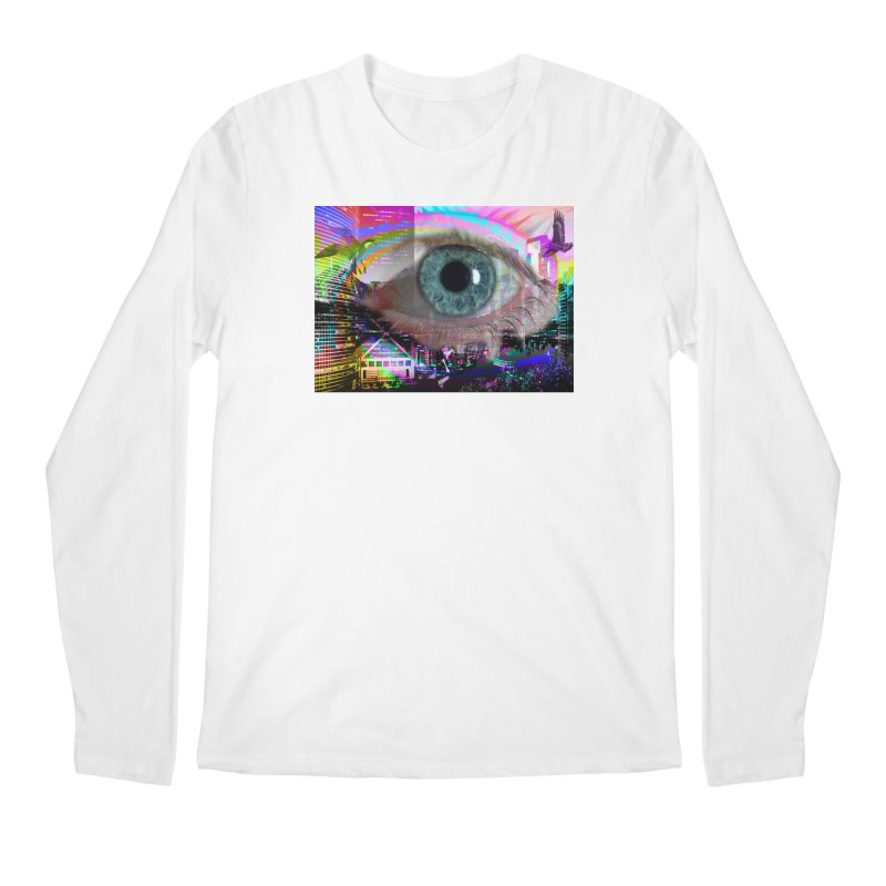 Eye on the City: Part of the Eye Series Men's Longsleeve T-Shirt by InspiredPsychedelics's Artist Shop