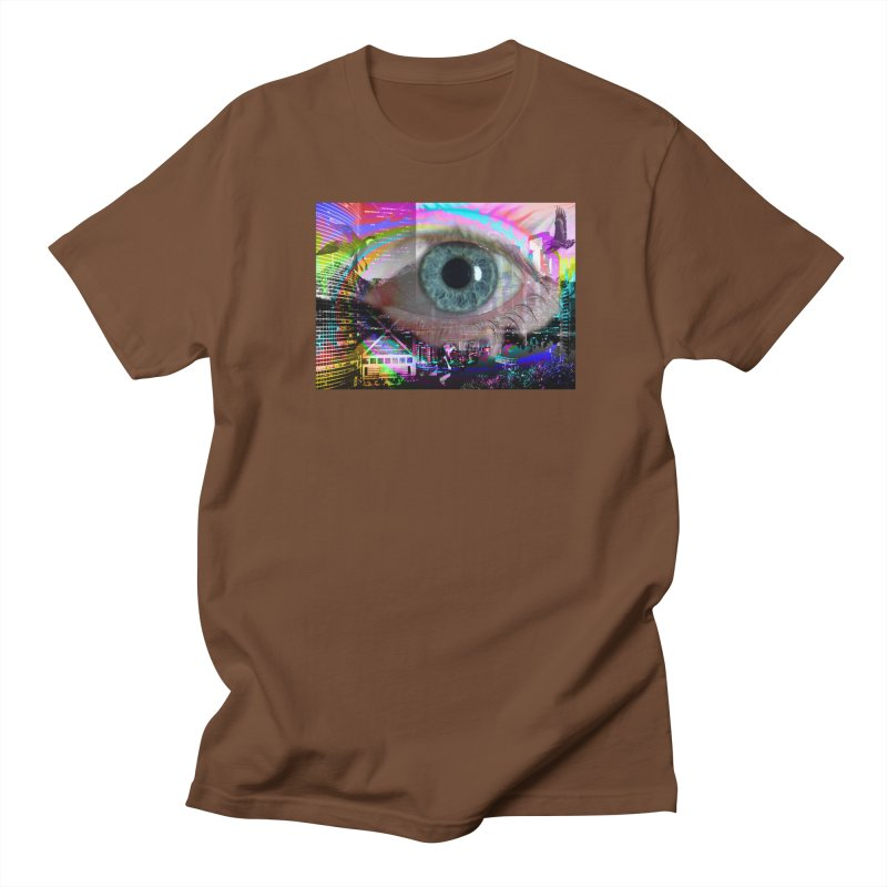 Eye on the City: Part of the Eye Series Men's Regular T-Shirt by InspiredPsychedelics's Artist Shop