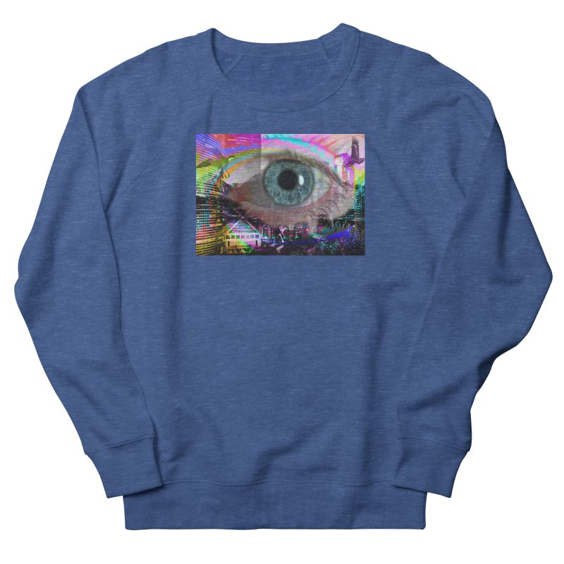 Eye on the City: Part of the Eye Series Men's French Terry Sweatshirt by InspiredPsychedelics's Artist Shop