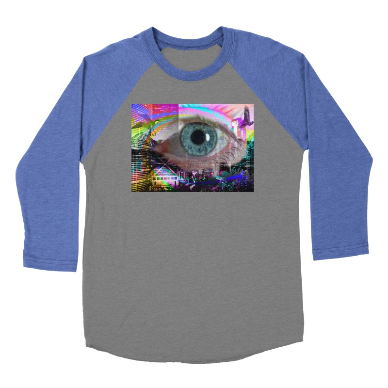 Eye on the City: Part of the Eye Series Women's Baseball Triblend T-Shirt by InspiredPsychedelics's Artist Shop