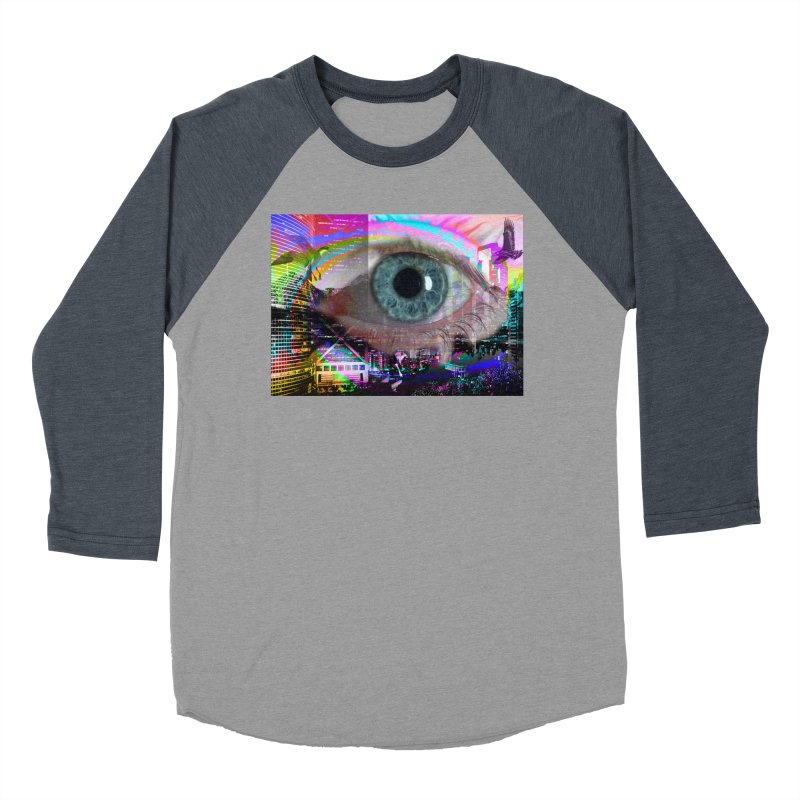 Eye on the City: Part of the Eye Series Women's Baseball Triblend Longsleeve T-Shirt by InspiredPsychedelics's Artist Shop