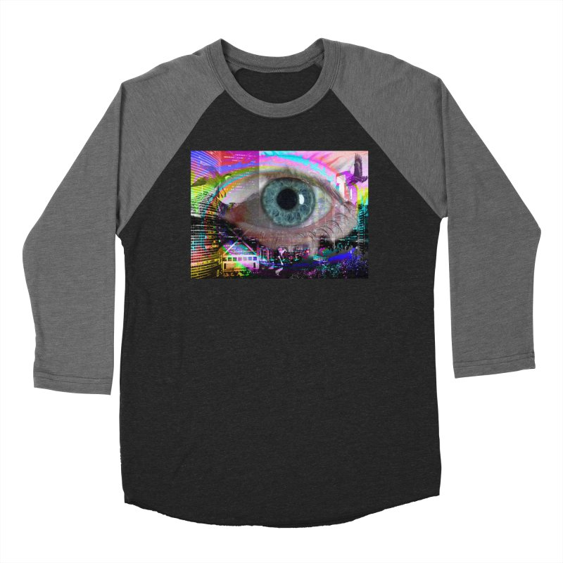 Eye on the City: Part of the Eye Series Men's Baseball Triblend T-Shirt by InspiredPsychedelics's Artist Shop