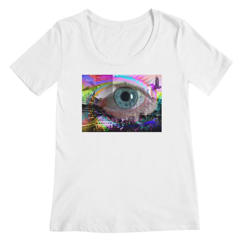 Eye on the City: Part of the Eye Series Women's Scoopneck by InspiredPsychedelics's Artist Shop