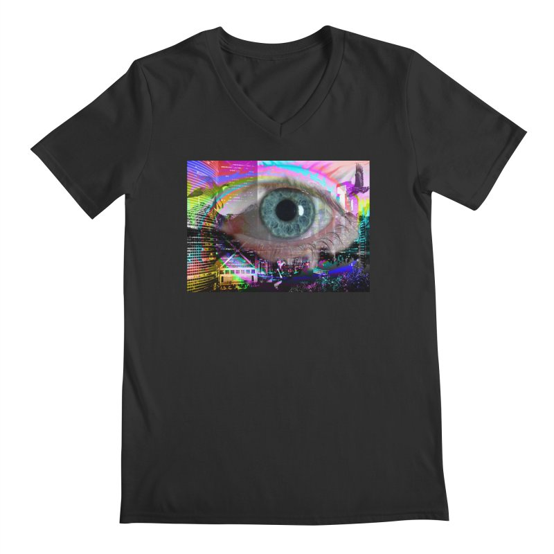 Eye on the City: Part of the Eye Series Men's V-Neck by InspiredPsychedelics's Artist Shop