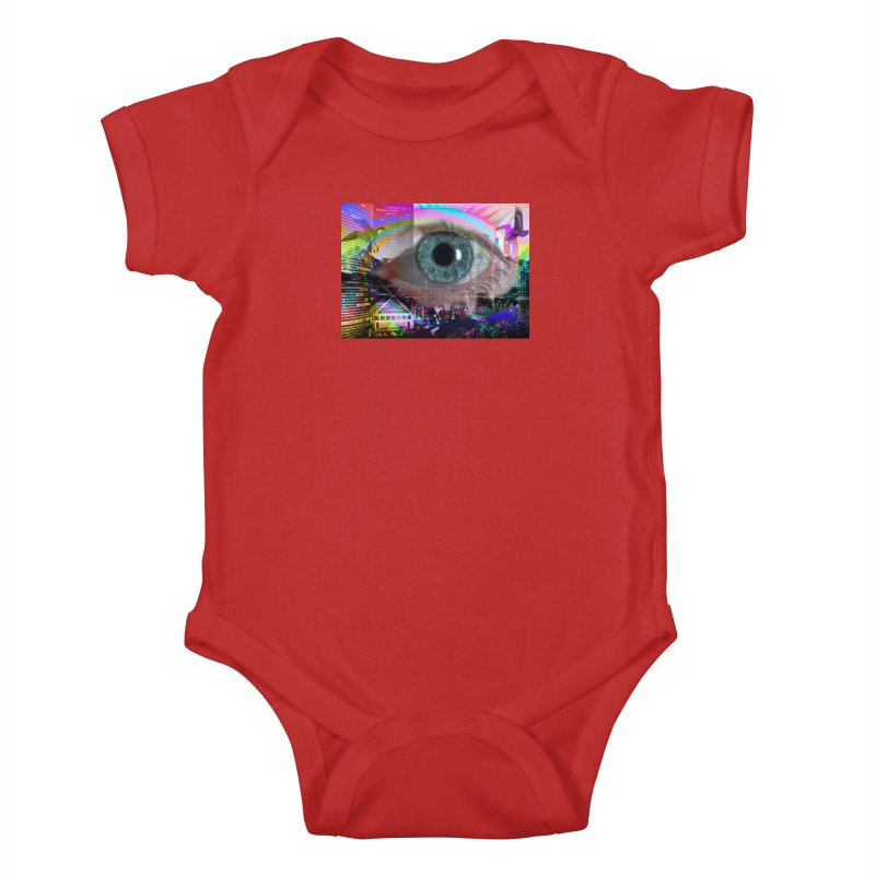 Eye on the City: Part of the Eye Series Kids Baby Bodysuit by InspiredPsychedelics's Artist Shop