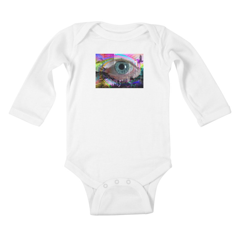 Eye on the City: Part of the Eye Series Kids Baby Longsleeve Bodysuit by InspiredPsychedelics's Artist Shop