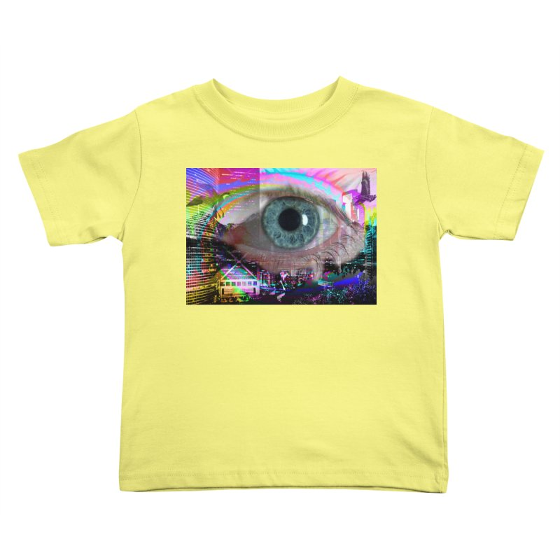 Eye on the City: Part of the Eye Series Kids Toddler T-Shirt by InspiredPsychedelics's Artist Shop