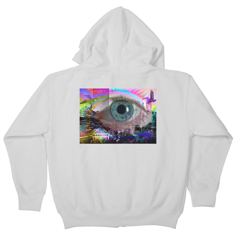 Eye on the City: Part of the Eye Series Kids Zip-Up Hoody by InspiredPsychedelics's Artist Shop