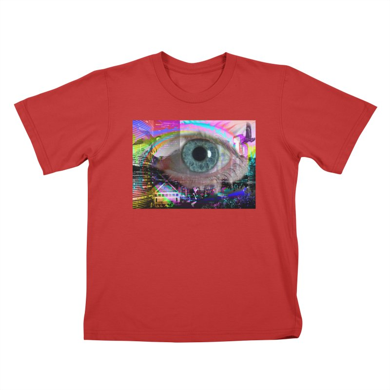Eye on the City: Part of the Eye Series Kids T-Shirt by InspiredPsychedelics's Artist Shop