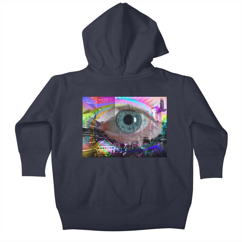 Eye on the City: Part of the Eye Series Kids Baby Zip-Up Hoody by InspiredPsychedelics's Artist Shop